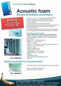 Mousse Isolation Acoustique : mousse d 39 isolation acoustique ~ Melissatoandfro.com Idées de Décoration