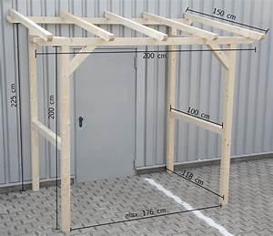 Vordach Hauseingang Holz Bauanleitung : vordach vorbau unterstand haust r berdachung holzvordach 2x1 5 m 200x150 cm ebay ~ A.2002-acura-tl-radio.info Haus und Dekorationen