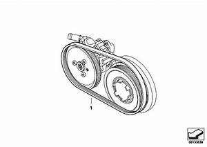 Original Parts For E91 320d M47n2 Touring    Engine   Belt