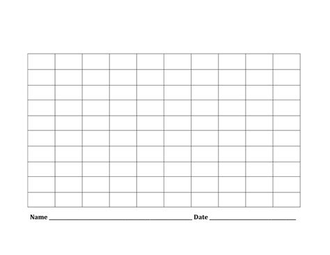 printable blank number charts   activity shelter