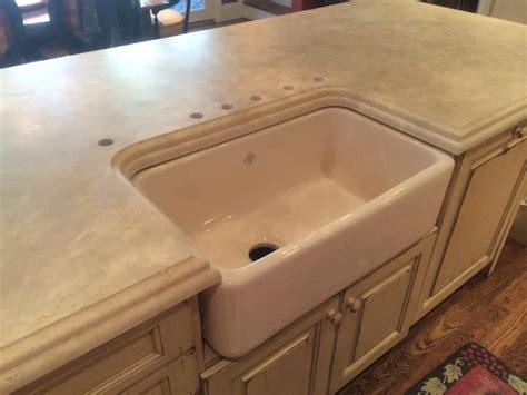 copper apron sink crema marfil farm sink