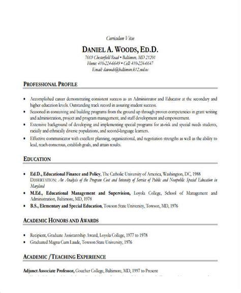 higher education resume resume ideas