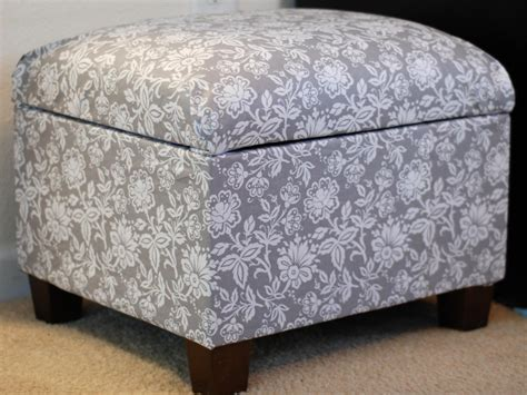 how to upholster an ottoman how to re cover an upholstered ottoman how tos diy