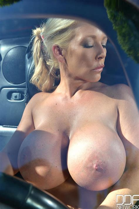 blonde Milf With Huge Fake Tits
