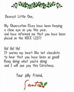 Crafty confessions nice and naughty letters from santa for Nice list santa letter