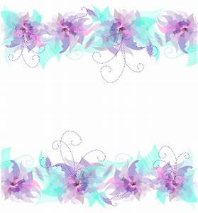 Floral Pink Purple and Blue Decoration PNG Transparent ...