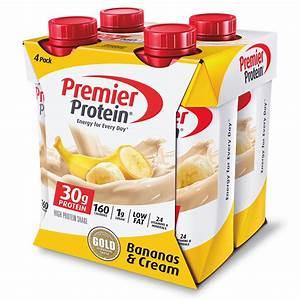 Premier Protein Bananas  U0026 Cream High Protein Shakes  11 Fl