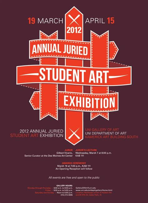 uni annual juried student art exhibition  poster