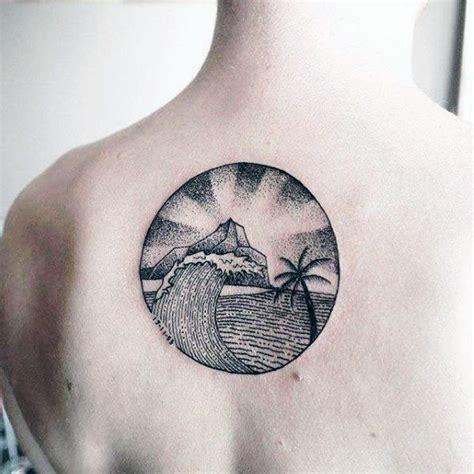 simple wave tattoo designs  men water ink ideas
