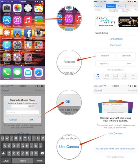 how to load itunes gift card on iphone how to redeem gift cards and app promo codes from