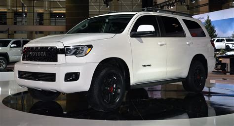 toyota sequoia trd pro  ready  conquer arduous terrains carscoops