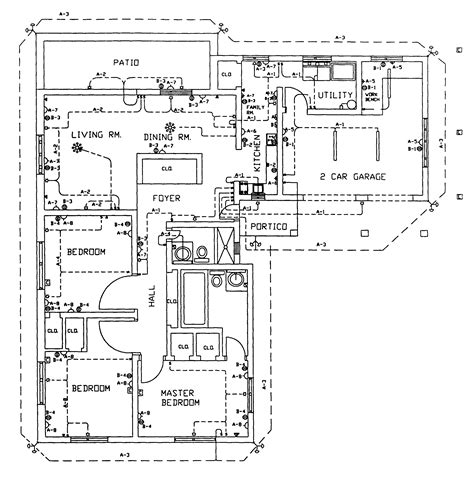 hotel plan electrical layout in autocad drawing