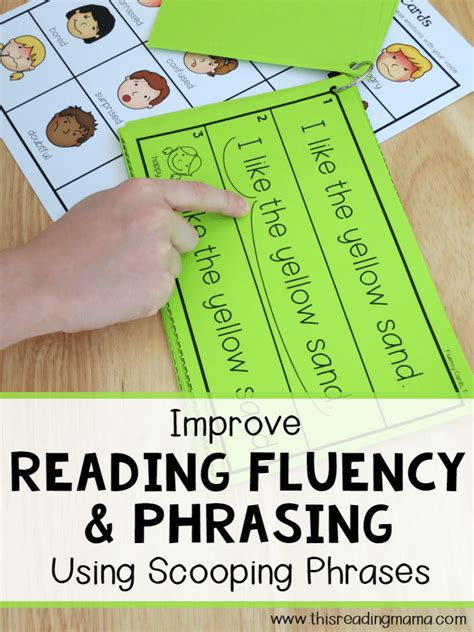 teach fluency  scooping phrases  measured mom