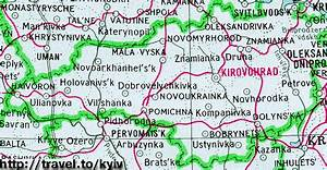 Travel To Ukraine  Map Of Ukraine  Kirovohrad  Kirovograd