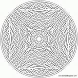 Coloring Celtic Pages Complex Pattern Geometric Knot Mandala Adult Nested Braids Adults Complicated Braid Eat Embroidery Printable Voor Volwassenen Paste sketch template