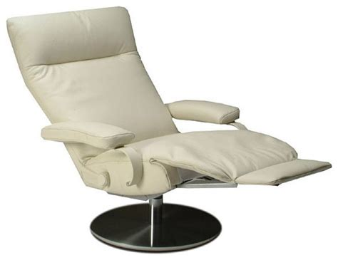 Furniture Brown Leather Swivel Chair With Steel Base by Modern Swivel Recliner Options Homesfeed