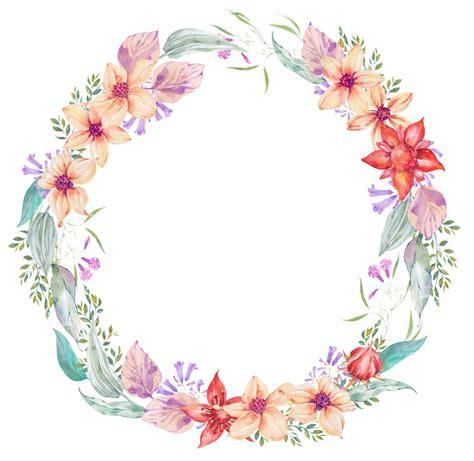 Corona de flores transparente y delicada flor PNG