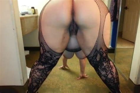 Hairy Bbw Bends Over To Show How Ready She Is For Me