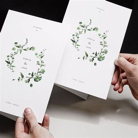 Pin by Amelie Palmer on Program Design Wedding cards