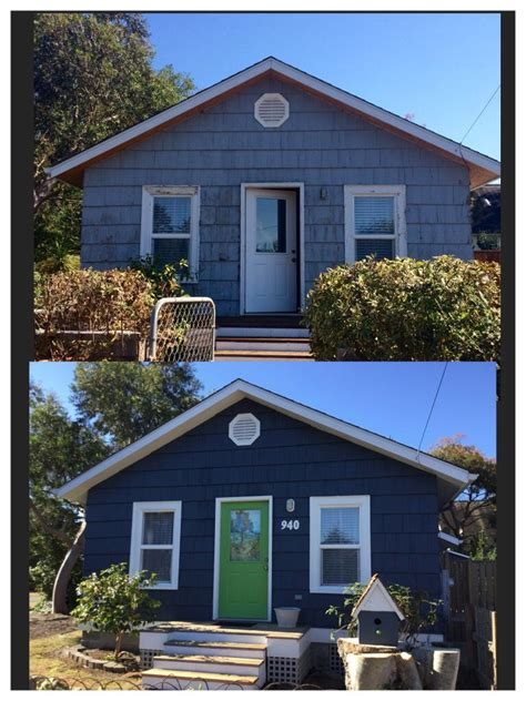 before and after beach cottage vermont slate miller paint