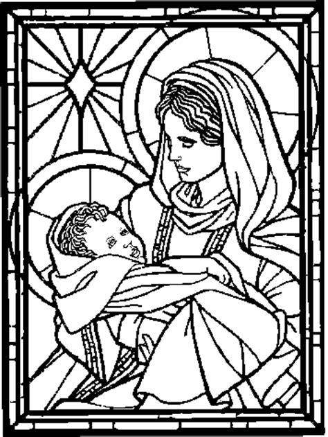 maria mit jesus ausmalbild malvorlage gemischt