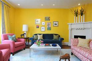 Paint color portfolio sunny yellow living rooms for Colour it yellow living room