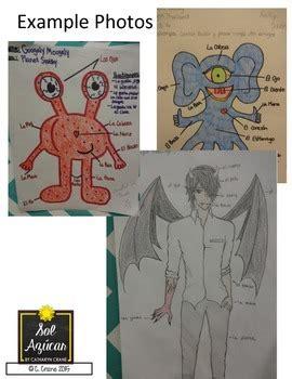 spanish monster project mi monstruo body parts unit