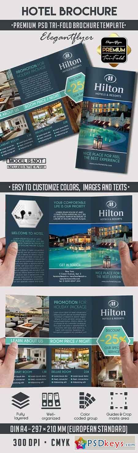 Tri Fold Brochure Template Psd by Hotel Premium Tri Fold Psd Brochure Template