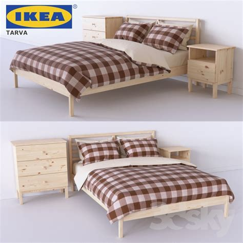 Bed Sets Ikea by 3d Models Bed Set Of Bedroom From Tarva Series Tarva Ikea