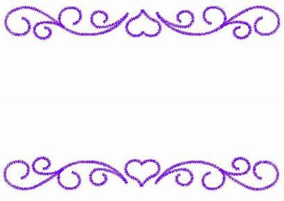 Scroll Patterns Designs Border Heart Simple Embroidery