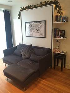 saving space diy wall bed sofa cabinet shelf combo With wall bed sofa conversions