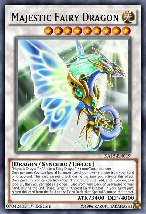 majestic fairy dragon yu gi  yugioh decks monster