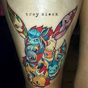 Every Evolution of Pokémon's Eevee as Tattoos | Tattoodo