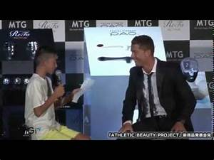 Cristiano ronaldo and a boy trying to speak portuguese ...