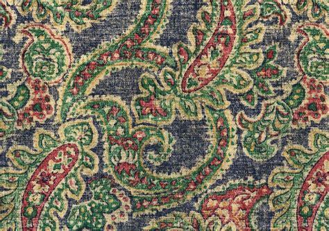 Paisley Drapery Fabric - waverly fabric izmir blue gold green paisley print