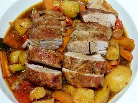 porc cuisine filet mignon de porc et ses petits l 233 gumes un petit