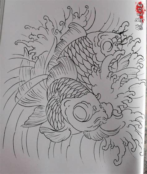 Bản vẽ hình xăm cá chép rất chi tiêt. Bộ sưu tập hình xăm cá chép kèm bản vẽ tay kinh điển TQ (P2) - Blog Hình Xăm Đẹp