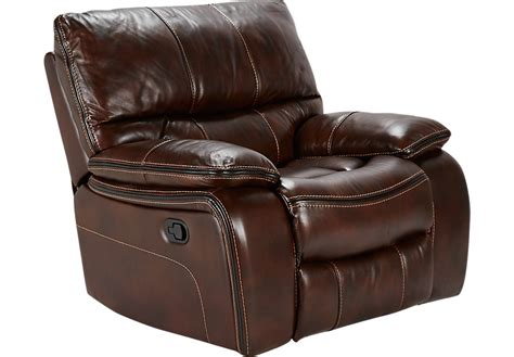 rooms to go recliners home brown leather glider recliner