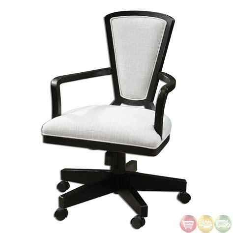 white modern desk chair exavier sandy white linen wood frame modern desk chair 23151