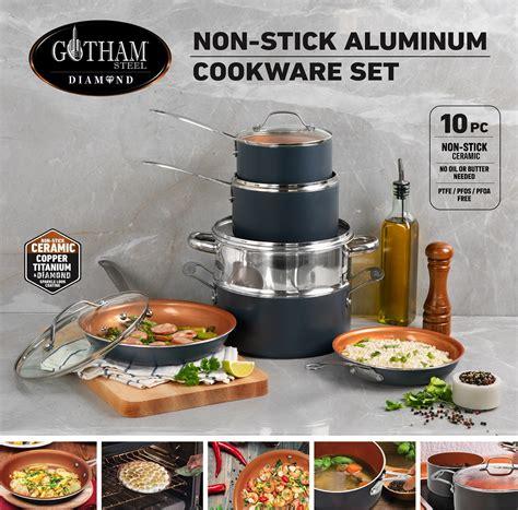 gotham steel  piece graphite  cookware set