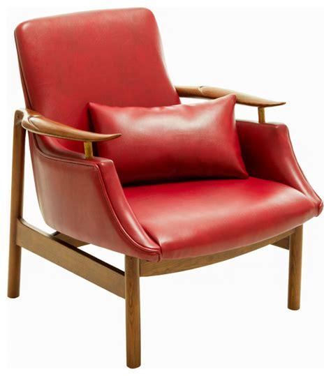 braselton leather wood frame armchair midcentury