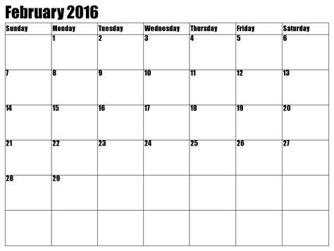 february 2016 calendar printable calendar 2016 2017