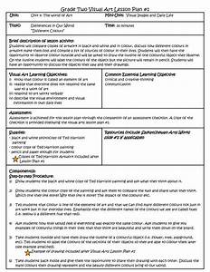 1000 ideas about visual art lessons on pinterest visual With lesson plan template qld
