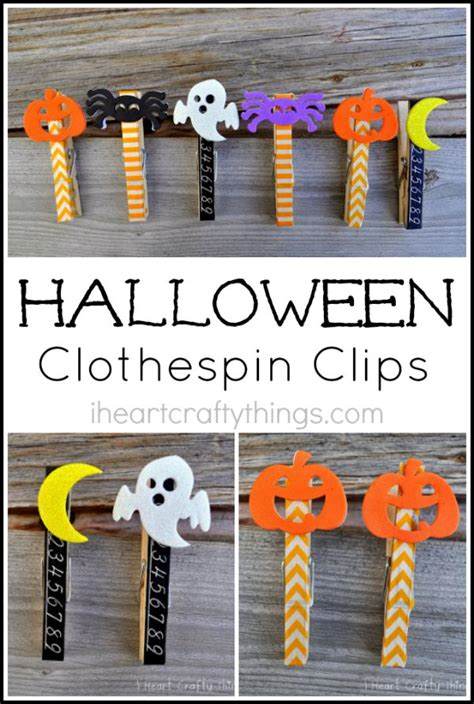 Halloween Clothespin Clips I Heart Crafty Things