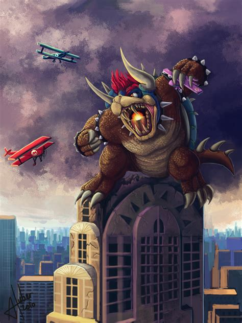King Kong Bowser By Annick Huber Vybeosa Super Marios