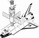 Telescope Hubble Space Drawing Coloring Sketch Template sketch template