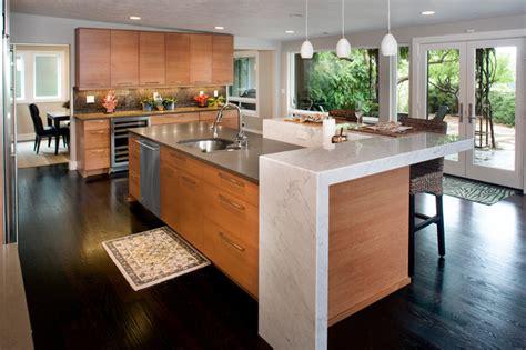 birch kitchen island birch cabinets concrete and caesarstone island 1662