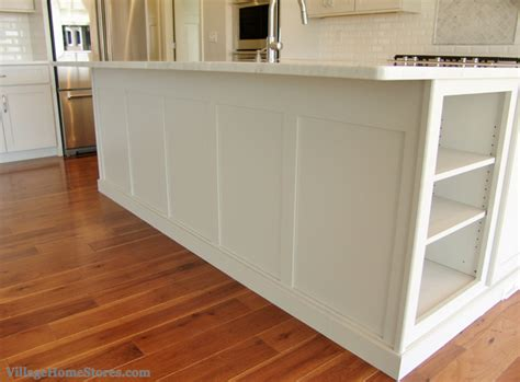 wainscoting kitchen island custom wainscot panel finishes the back of a 3304