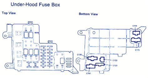 Honda Accord Bottom View Fuse Box Block Circuit