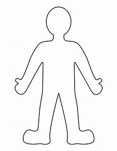 Person pattern use the printable outline for crafts for Person template preschool